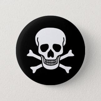 Crâne humain badge