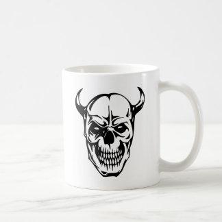Crâne humain mug blanc