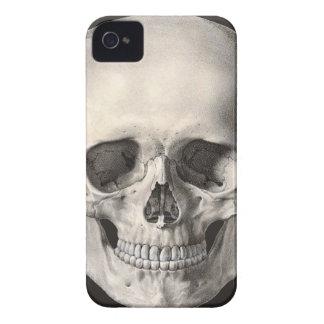 Crâne humain vintage d'anatomie, squelette de coque iPhone 4 Case-Mate