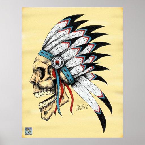 Crâne indien posters