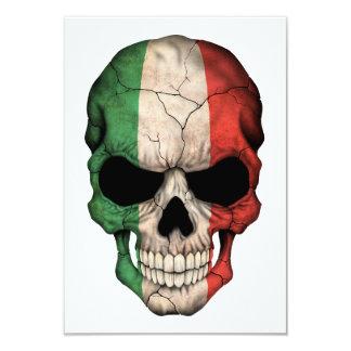 Crâne italien de drapeau faire-part personnalisables