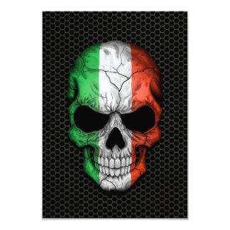 Crâne italien de drapeau sur le graphique en acier bristol personnalisé