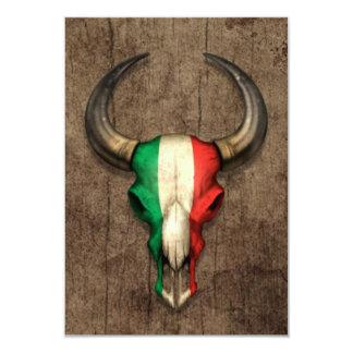 Crâne italien de Taureau de drapeau sur l'effet en Faire-part Personnalisables