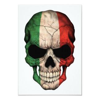 Crâne italien personnalisable de drapeau carton d'invitation 8,89 cm x 12,70 cm