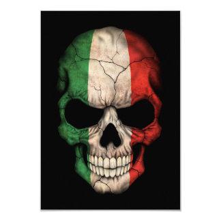Crâne italien personnalisable de drapeau faire-part personnalisé