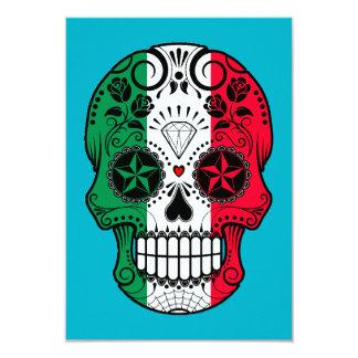 Crâne italien personnalisable de sucre de drapeau carton d'invitation 8,89 cm x 12,70 cm
