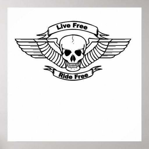 Crâne libre d'ailes de tour gratuit vivant