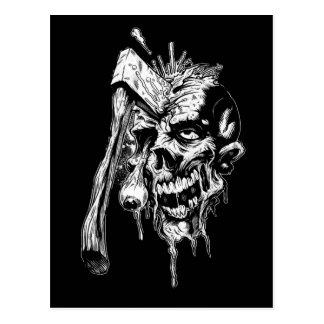 Crâne martelé carte postale