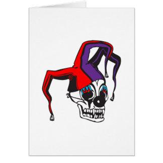 crâne mauvais de clown de farceur cartes