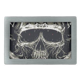 Crâne mauvais de diamant de Viking Boucle De Ceinture Rectangulaire