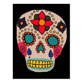 Crâne mexicain de sucre d'art populaire carte postale