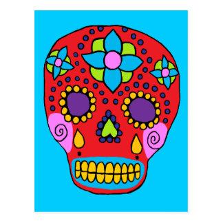 Crâne mexicain de sucre d'art populaire cartes postales