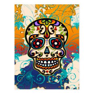 Crâne mexicain de sucre, jour des morts carte postale