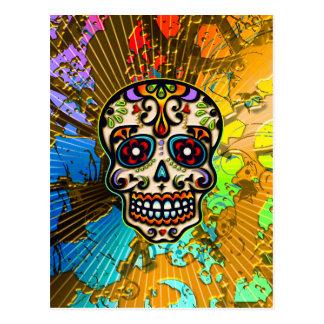Crâne mexicain de sucre, jour des morts cartes postales