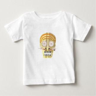 Crâne musical aucun T-shirt de bébé d'arrière -