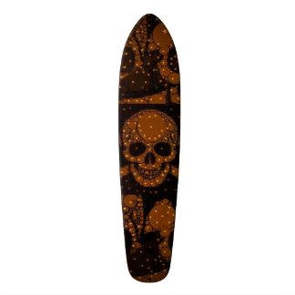 Crâne noir Bling de roses indien Skateoard Personnalisé
