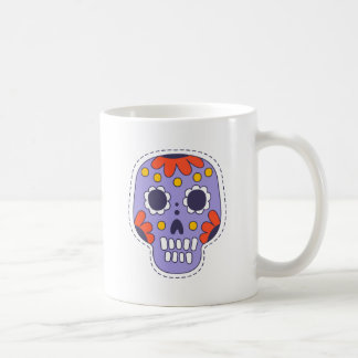 Crâne peint par Mexicain Mug