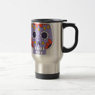 Crâne peint par Mexicain Mug De Voyage