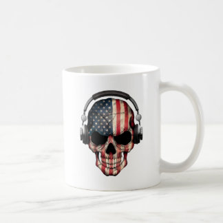 Crâne personnalisable du DJ d'Américain avec des Mug
