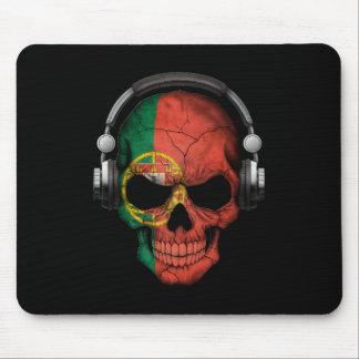 Crâne personnalisable du DJ de Portugais avec des Tapis De Souris