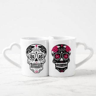Crâne personnalisé de sucre de hippie mugs amoureux