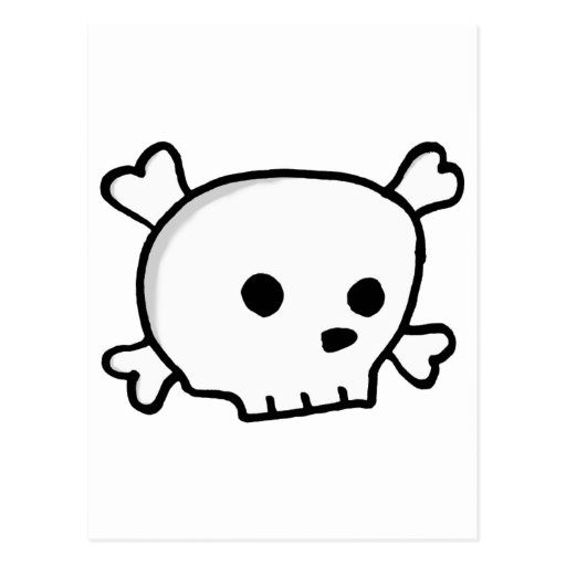 Crâne petit de pirate cartes postales
