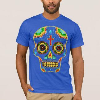 Crâne polychrome de sucre t-shirt