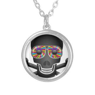 crâne psychédélique collier