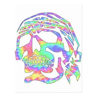 Crâne psychopathe de crâne psychédélique carte postale