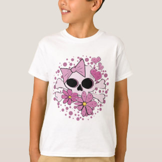 Crâne punk Girly T-shirt