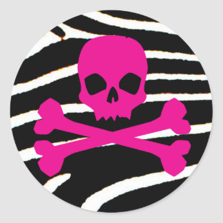 Crâne punk sticker rond