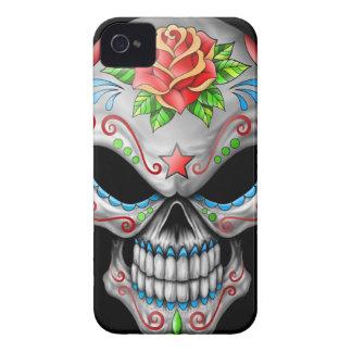 Crâne rose de sucre de mal étuis iPhone 4