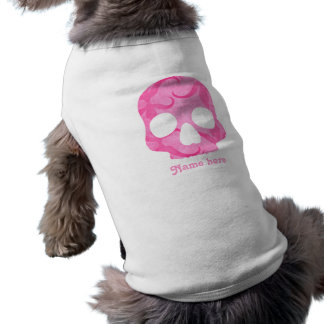 Crâne rose Girly T-shirt Pour Chien