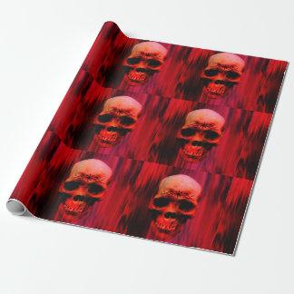 Crâne rouge avec le tribal papiers cadeaux