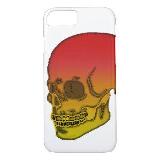 Crâne rouge et jaune coque iPhone 7