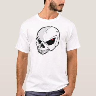 Crâne rouge sang mauvais de globes oculaires t-shirt