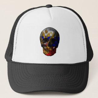 Crâne russe de drapeau casquette
