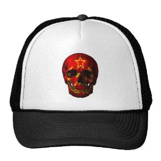 Crâne russe de drapeau casquettes
