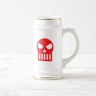 Crâne simple chope à bière