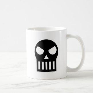 Crâne simple mug blanc