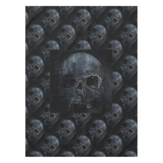 Crâne squelettique gothique éffrayant de rayon X Nappe