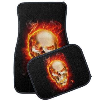 Crâne sur le feu #2 tapis de voiture