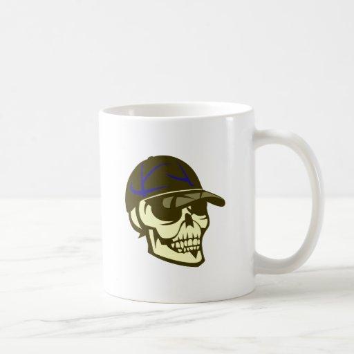 Crâne tête de mort chapeau skull cap tasse à café
