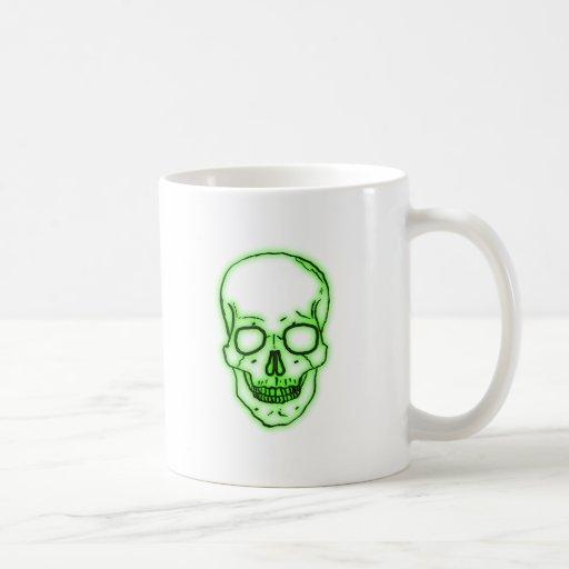 crâne tête de mort green vert skull tasses à café