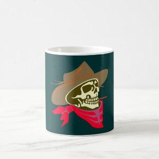 Crâne tête de mort skull cowboy mug blanc