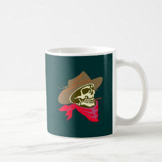 Crâne tête de mort skull cowboy tasses