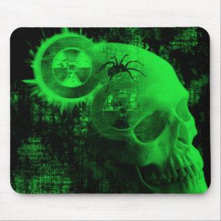 crâne toxique tapis de souris