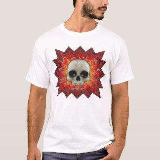 Crâne tramé et explosion : T-shirt