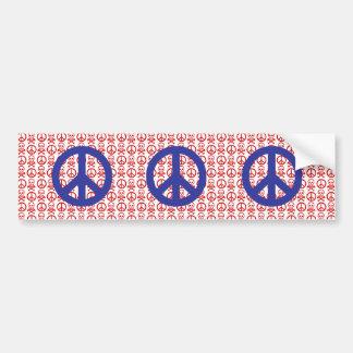 Crânes blancs et bleus rouges de paix adhésif pour voiture