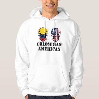 Crânes colombiens de drapeau américain veste à capuche